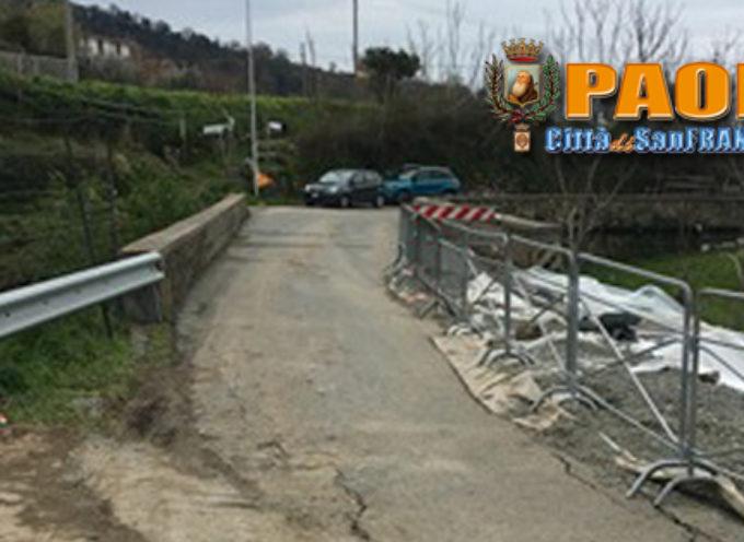 Paola – Riaperta al transito (con senso unico alternato) la strada a S. Miceli