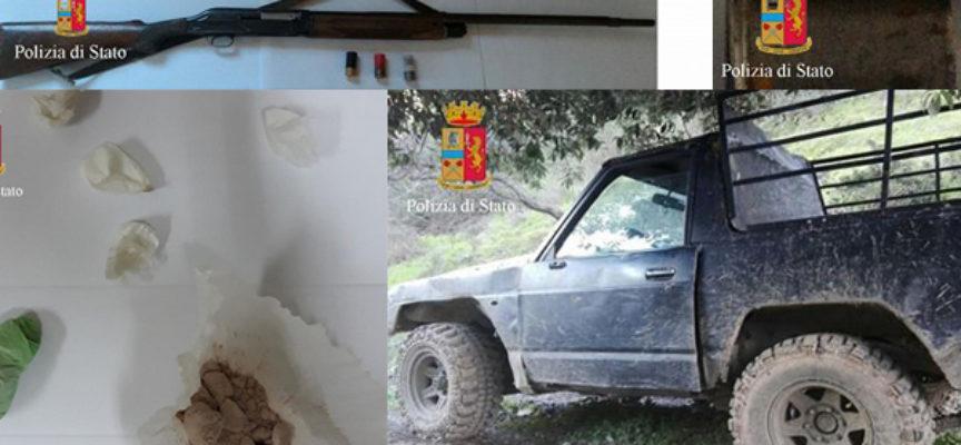 Vasta operazione della Polizia: presi per armi, droga e furto di energia