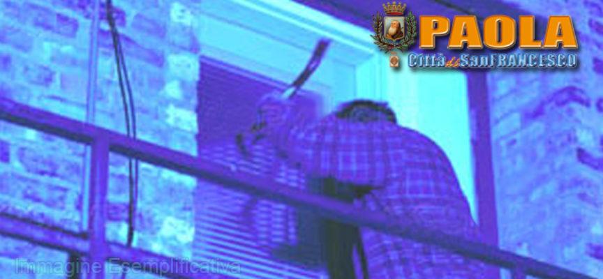 Paola – Ristoratore subisce furto in casa, malviventi sottraggono cassaforte