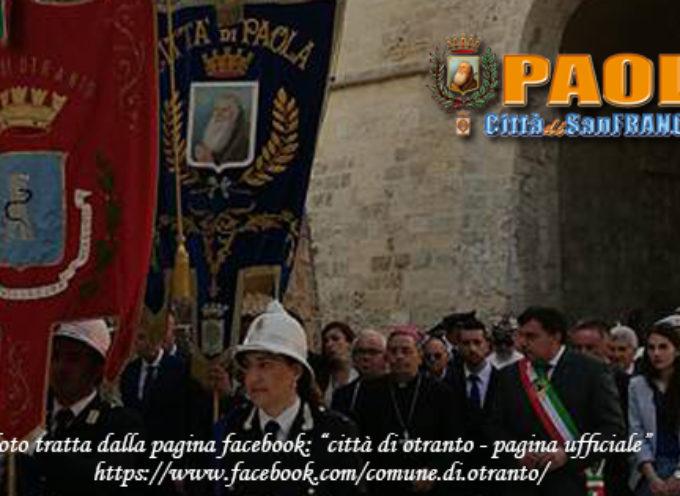 Paola – La Città del Santo e Otranto pronte a gemellarsi in San Francesco