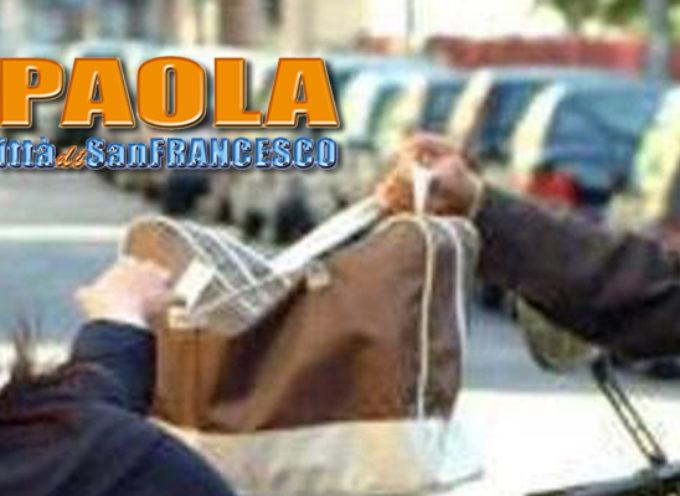 Paola – Commerciante scippata da malviventi in moto. Colpo da 6mila€