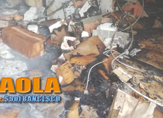 Paola – FOTO – Incendio presso sede Enel… menomale ad averceli i VVFF