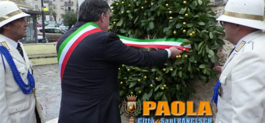 Paola – Video – 4 Novembre: malgrado il meteo, la Città celebra gli Eroi