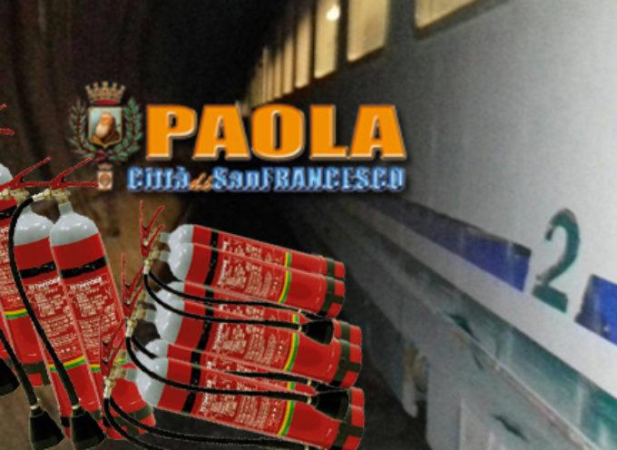Paola – Ha sedici anni l'indagato per gli estintori messi sui binari in galleria