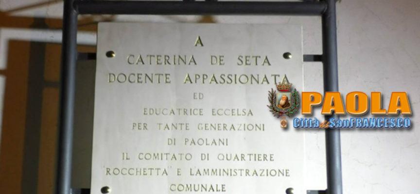 Paola – Video – Cerimonia per Caterina De Seta: «Educatrice eccelsa»