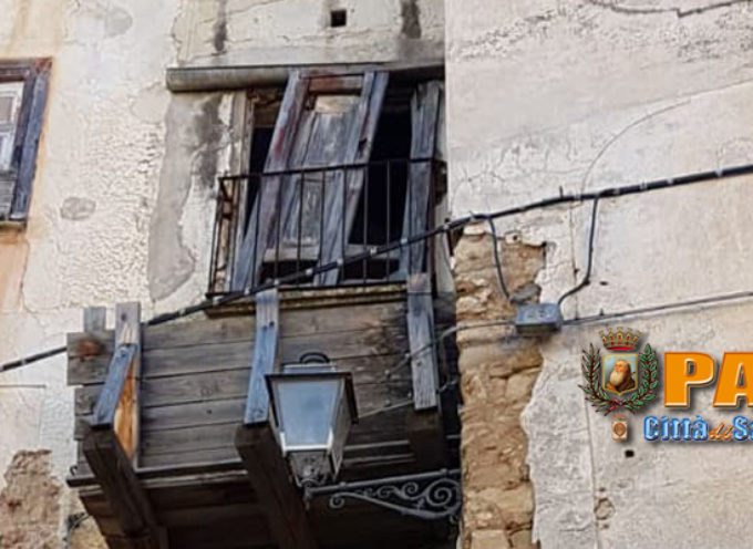 """Paola – Fanno paura i danni subiti da """"Palazzo Pisani"""" alla Rocchetta"""