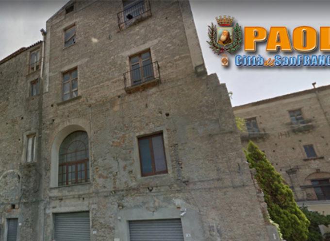 Paola – Dalla Regione stanziati quasi 2 milioni di € per l'ex Palazzo di Città