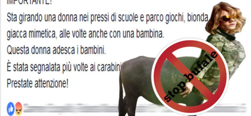 """Paola – Nessuna traccia della bionda """"adescatrice"""" di bambini: BUFALA"""