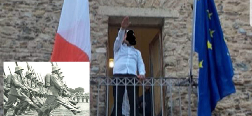 Saluto fascista dal balcone. Fiumefreddo ora marcerà a passo dell'oca?