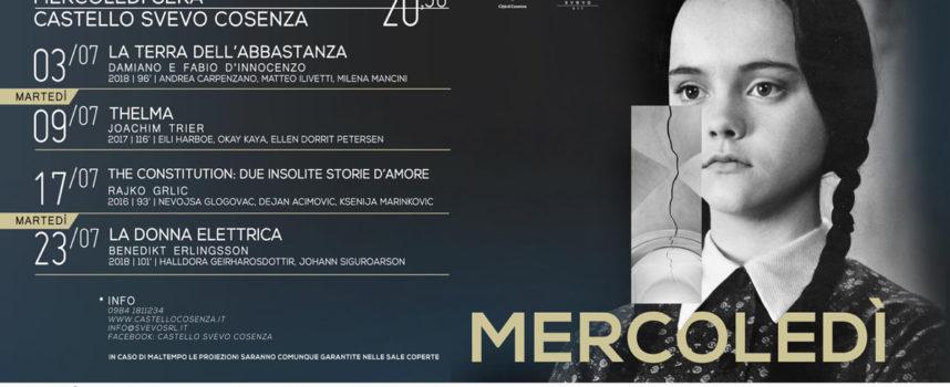 A partire da domani (mercoledì 3/7) Cosenza ospita il Cinema nel Castello
