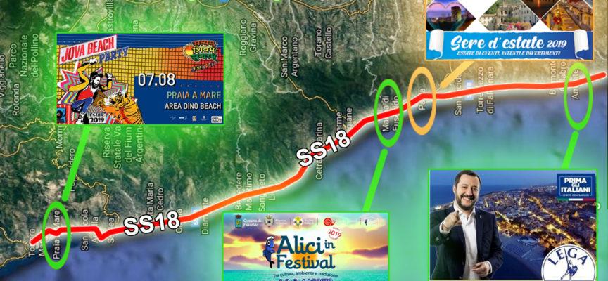 EstatEventi: SS18, via del successo, segna record a Nord e a Sud di Paola