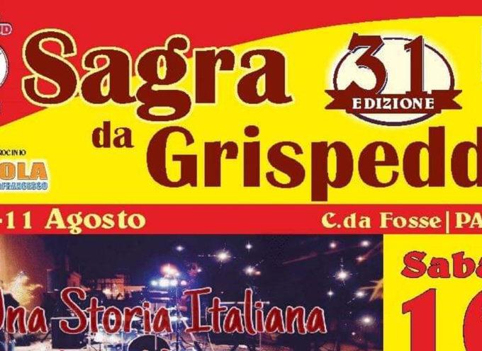 Stasera la 31esima edizione della Sagra da Grispedda, deliziosa specialità