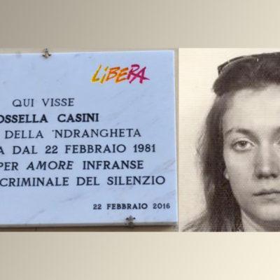 Assassinii 'ndrangheta: Libera ricorda Rossella Casini con un presidio