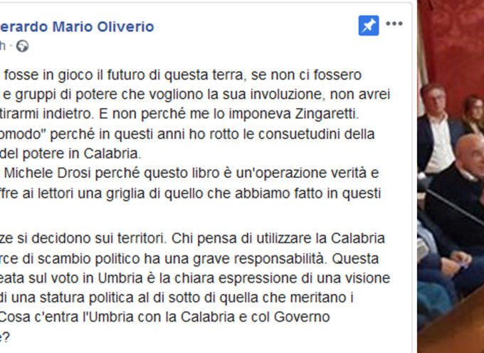 """Presidente scomodo. Mario Oliverio """"obbligato"""" a ricandidarsi alla Regione"""