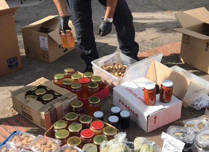 90 Kg di prodotti alimentari sequestrati dai Carabinieri Forestali al mercato