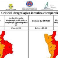Allerta Meteo Calabria: Protezione Civile attenziona versanti Ionio e Tirreno