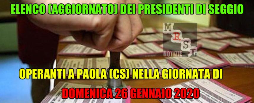 Paola – Ecco l'elenco (aggiornato) dei Presidenti di Seggio di domenica 26